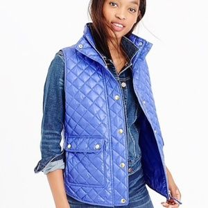 J. Crew Shiny Quilted Field Puffer Vest
